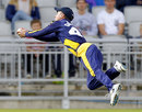 Murray Goodwin took a fine catch to remove Paul Horton, Lancashire v Glamorgan, NatWest T20 Blast quarter-final, Old Trafford, August 2, 2014