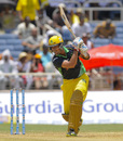 Owais Shah drives through the off side, Jamaica Tallawahs v Barbados Tridents, CPL 2014, Kingston, Aug 3, 2014