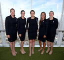 Members of the England squad at the Shard, London, August 4, 2014