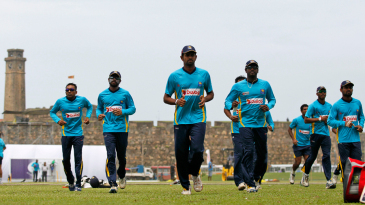 Sri Lanka warm up against the backdrop of Galle Fort