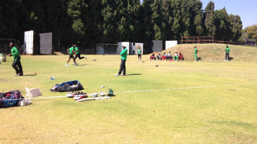 The Zimbabwe players train in Harare