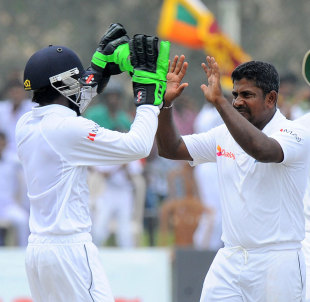 Rangana Herath picked up nine wickets in the match