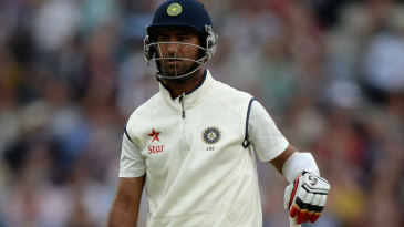 Cheteshwar Pujara's dismissal left India 8 for 4