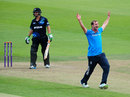 Tom Smith appeals for an lbw, England Lions v New Zealand A, Tri-series, Bristol, August 8, 2014