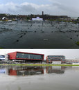 Two wet grounds: damp scenes in Galle and Manchester, England v India, 4th Test, Old Trafford, 2nd day, August 8, 2014