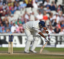 Pankaj Singh is bowled, England v India, 4th Test, Old Trafford, 3rd day, August 9, 2014
