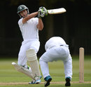 Janneman Malan swings into the leg side