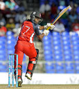 Evin Lewis top-scored for Red Steel with 38 off 36 balls, Antigua Hawksbills v T&T Red Steel, CPL 2014, St Kitts, August 9, 2014
