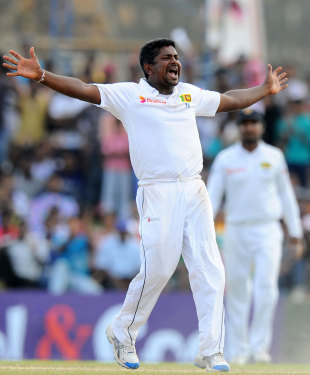 Rangana Herath finished with 6 for 48, Sri Lanka v Pakistan, 1st Test, Galle, 5th day, August 10, 2014