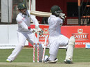 Donald Tiripano was bowled by Dane Piedt for 5 off 63 balls, Zimbabwe v South Africa, only Test, Harare, 4th day, August 12, 2014