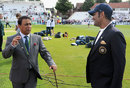 Sunil Gavaskar chats with MS Dhoni, England v India, 1st Investec Test, Trent Bridge, July 9, 2014