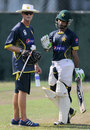 Asad Shafiq has a chat with Grant Flower, Colombo, August 13, 2014