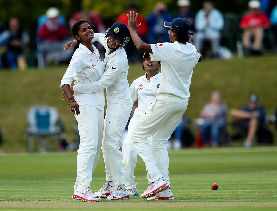 Niranjana Nagarajan's four strikes left England at 49 for 5 before lunch on the first day