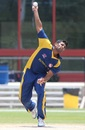 Japen Patel gets ready to bowl, Central East Region v South East Region, USACA T20 National Championship, Lauderhill, August 14, 2014