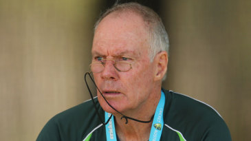 Greg Chappell watches the game