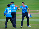 Matthew Fisher picked up a couple of wickets, England U-19s v South Africa U-19s, 1st Youth ODI, Edgbaston, August 15, 2014