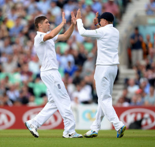 The Chris Woakes-Joe Root combine took two wickets