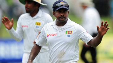 Rangana Herath became the first left-arm bowler to take nine wickets in an innings in Tests