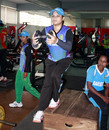 Jahanara Alam works out with a dumbbell, Mirpur, August 16, 2014