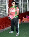 Ayasha Rahman exercises with a ball, Mirpur, August 16, 2014