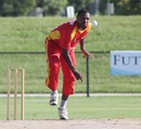 George Adams sends in a delivery, New York v South West, USACA T20 National Championship, Lauderhill, August 16, 2014