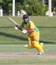 Nisarg Patel sets off for a run, New York v South West, USACA T20 National Championship, Lauderhill, August 16, 2014