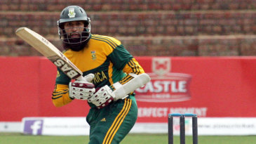 Hashim Amla works the ball to the leg side