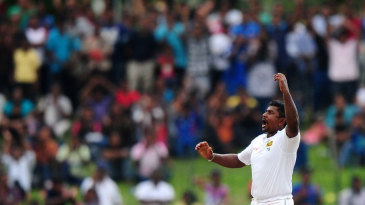 The Sunday crowd was delighted with Rangana Herath's efforts