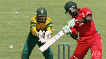 Elton Chigumbura scored 90 of his team's 165 runs