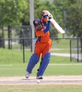 Aditya Mishra punches through the off side, Central West v North East, USACA T20 National Championship, Lauderhill, August 16, 2014