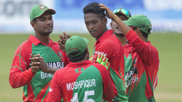Al-Amin Hossain produced a breakthrough in his first over
