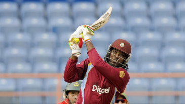 Chris Gayle hit five sixes in his 58