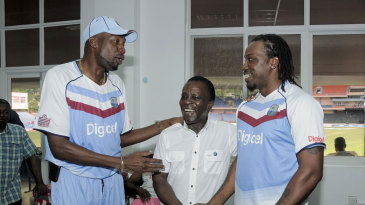 Grenada Prime Minister Dr. Keith Mitchell was present to oversee West Indies' big victory