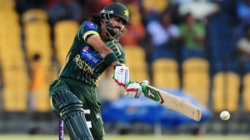 Fawad Alam puts power into one