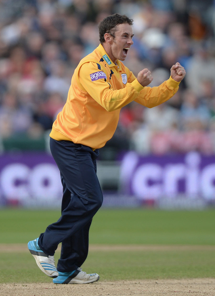 Will Smith was a batsman whose offspin bowling came in handy for Hampshire in T20s. He bowled 109 overs across two seasons, 26 of which were the first over of an innings