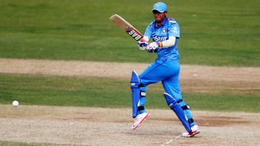 Harmanpreet Kaur targets the leg side