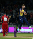Oliver Hannon-Dalby picked up three wickets in a crucial spell, Birmingham v Lancashire, NatWest T20 Blast final, Edgbaston, August 23, 2014