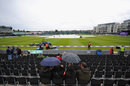 It was a morning for umbrellas as rain delayed the start, England v India, 1st ODI, Bristol, August 25, 2014