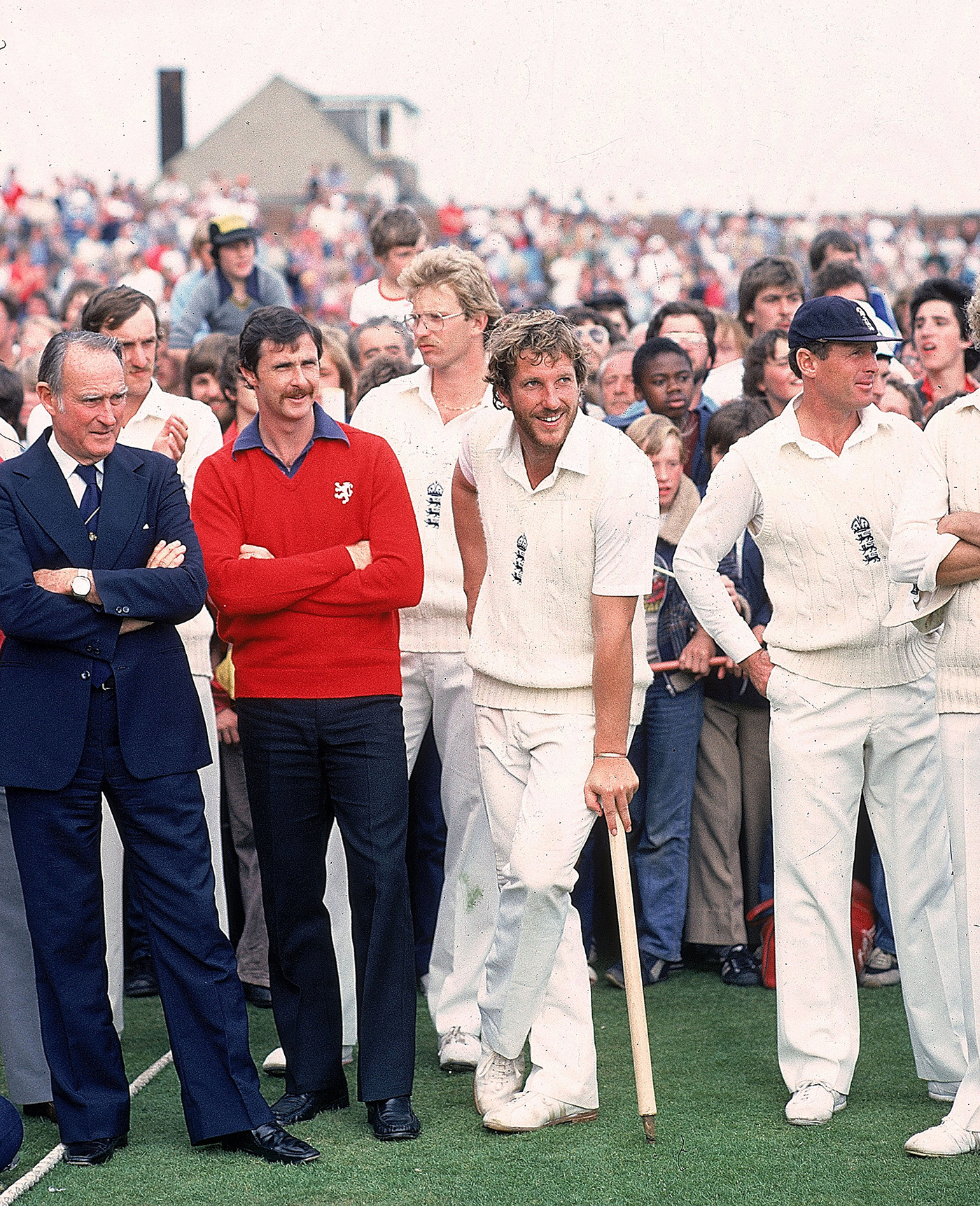 Beefy with Graham Yallop (red shirt) and Geoff Boycott after the match