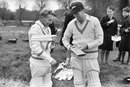 Bert Sutcliffe and Jack Cowie in 1949, May 1949