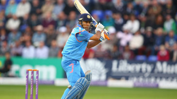 MS Dhoni struck six fours during his 52