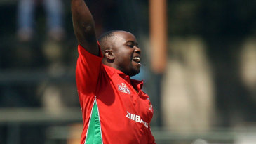 Prosper Utseya became the second Zimbabwe player to claim a hat-trick