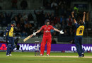 Paul Horton disagreed with his caught behind decision, Birmingham v Lancashire, NatWest T20 Blast final, Edgbaston, August 23, 2014