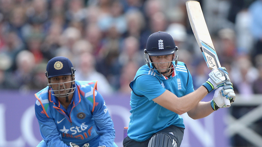 Jos Buttler shapes to play the reverse-sweep