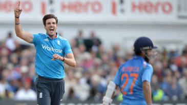 Steven Finn picked up the wicket of Ajinkya Rahane on his comeback