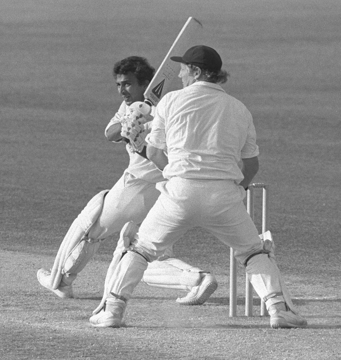 Sunil Gavaskar pulls one to the leg side during his double-century, England v India, 4th Test, The Oval, 4th day, 3 September, 1979