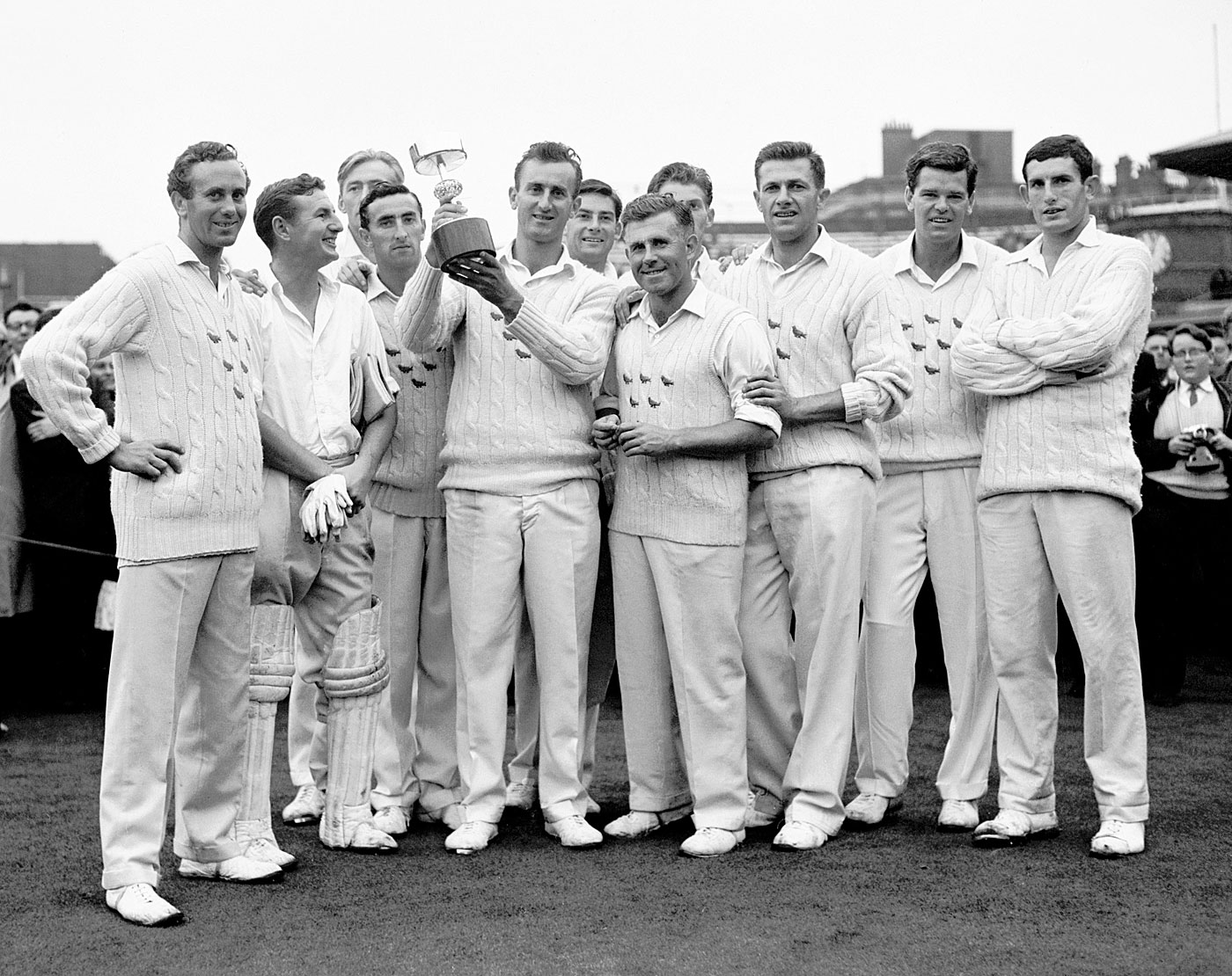 Ted Dexter and the 1963 Gillette Cup-winning Sussex side, Sussex v Worcestershire, Gillette Cup, final, Lord's, September 7, 1963