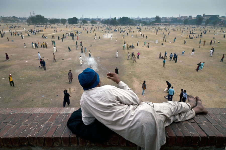 Lahore's Iqbal Park plays host to a swarm of matches at any given time