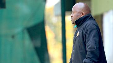 Stephen Mangongo keeps a close eye on the game