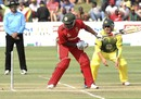 Tino Mawoyo is bowled for 15, Zimbabwe v Australia, tri-series, Harare, August 31, 2014